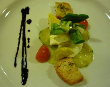 One of a series of antipasti you'll enjoy at Agriturismo del Sole