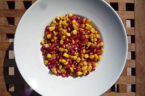 Recipe: Pomegranate and Sweetcorn Salad