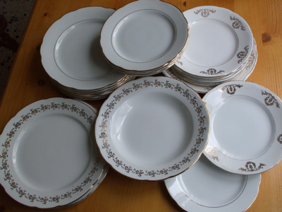 Our plates. Cleaned-up, beautoful - and in daily use