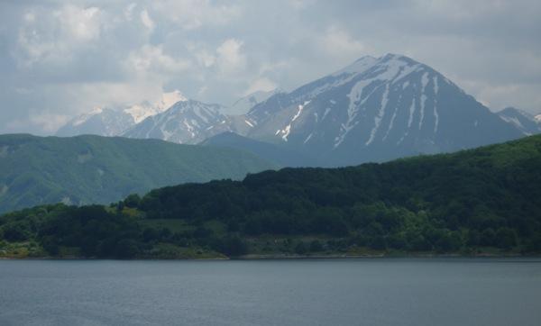 Lake Campotosto and Monte Piano