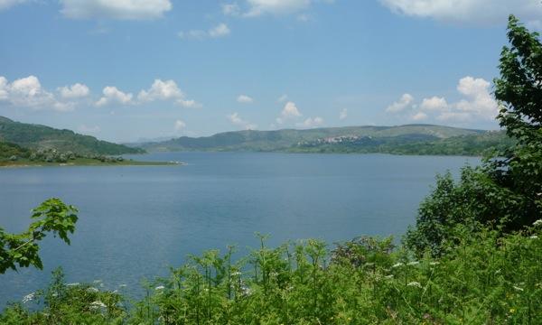 Lake Campotosto and Campotosto village