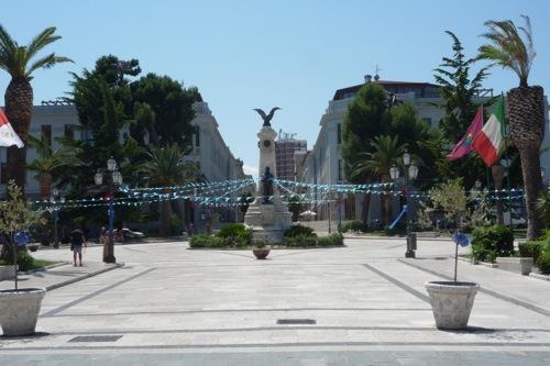 Piazza Rossini. Built on the site of a Roman amphitheatre