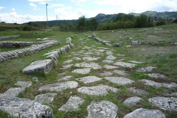 Typically straight Roman road