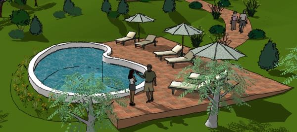How the pool was imagined...