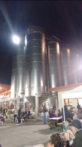 Stainless steel towers full of wine !