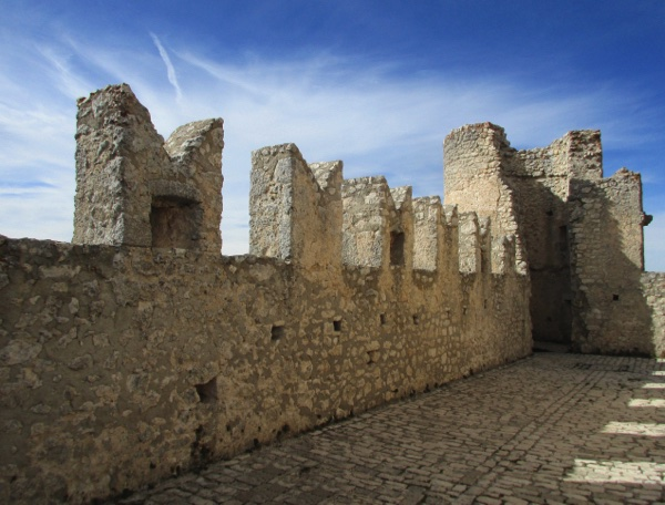 The castle's ramparts and thick walls