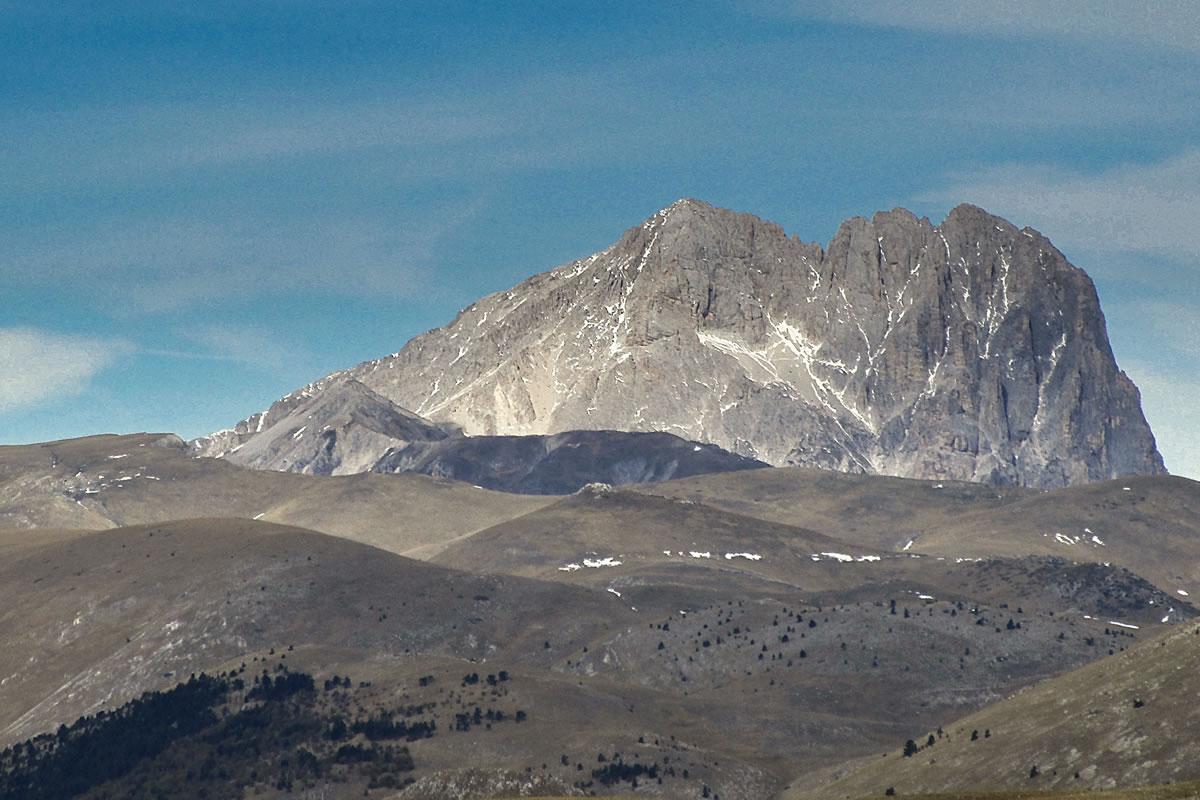 Corno Grande. The highest mountain in the Apennines