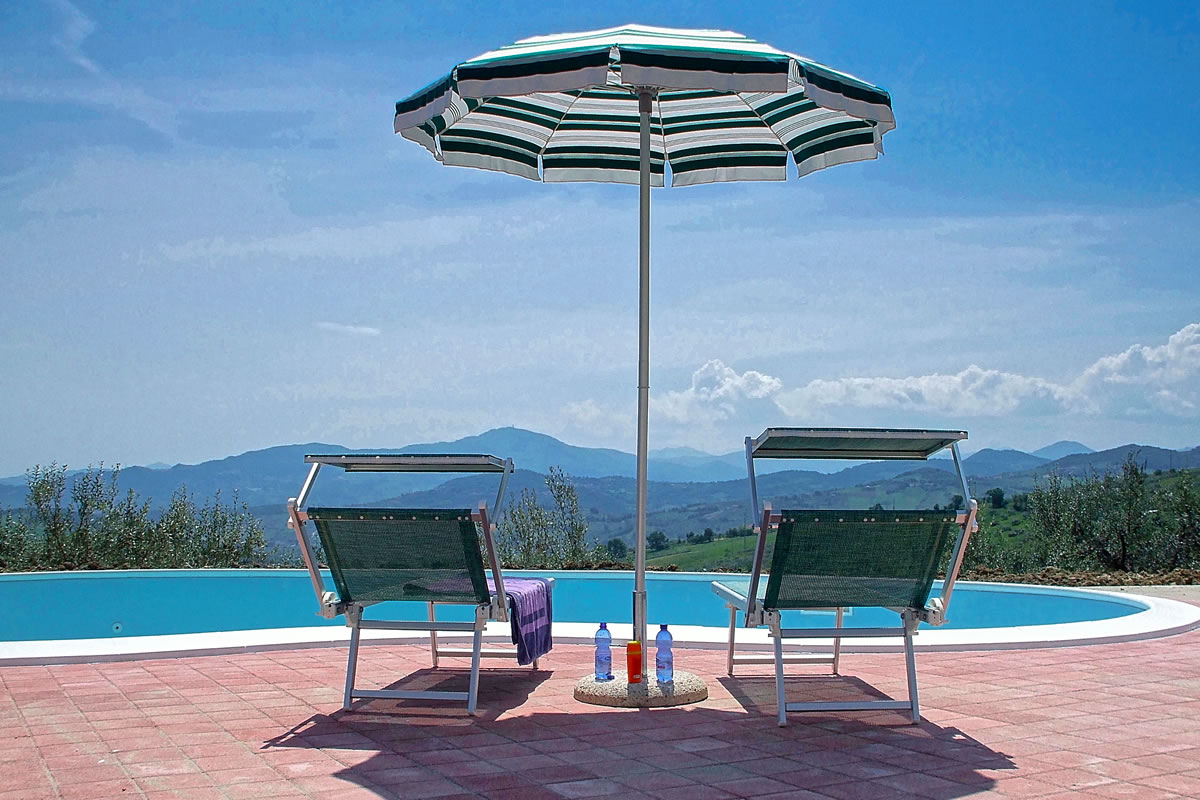 The amazing view from your sunbed by the pool
