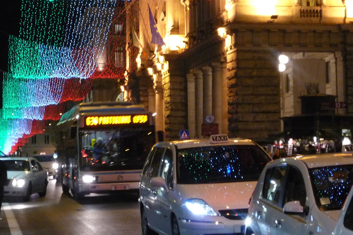 We have a great bus service linking us to Rome